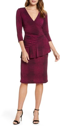 Leota 'Scarlett' Knit Faux Wrap Dress