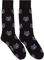Kenzo Black Jacquard Tiger Socks