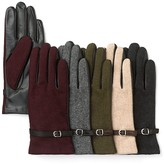 Grandoe Wool Front, Leather Palm Gloves with Belt
