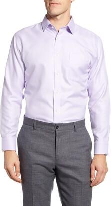 Nordstrom Smartcare Trim Fit Chevron Dress Shirt