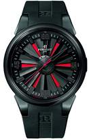 Perrelet Turbine Men's Automatic Watch with Black Dial Analogue Display and Black Rubber Strap A1047/1