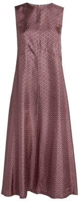 Max Mara Delia Printed Silk Dress
