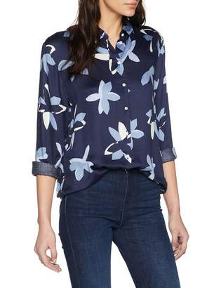 Seidensticker Women's Hemdbluse Langarm Modern fit Blumendruck Blouse