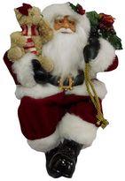 Traditional 16.5-in. Sitting Santa Figurine Table Decor