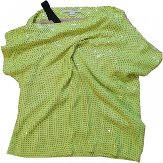Diane von Furstenberg Yellow Glitter Top for Women