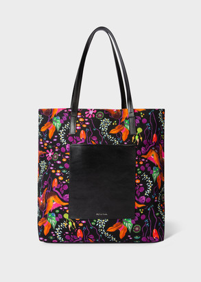 Paul Smith Women's Black 'Earthling Floral' Tote Bag