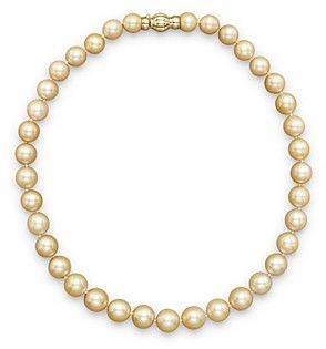 Bloomingdale's Cultured Golden South Sea Pearl Necklace in 14K Yellow Gold, 17