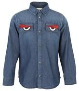 Fendi Monster Eyes Chambray Shirt