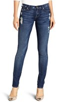 7 For All Mankind Women's Roxanne Slim Fit Jean in Distressed Starry Night