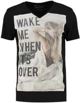 Tom Tailor Denim Print Tshirt Black
