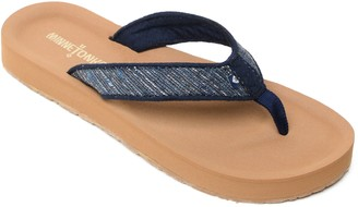 Minnetonka Fabric Thong Flip Flop Sandal - Hedy