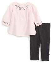 Offspring Infant Girl's Embroidered Tunic & Leggings Set