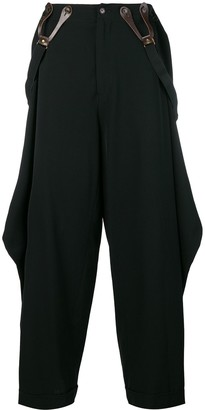 Jean Paul Gaultier Pre Owned draped suspender trousers
