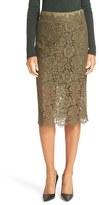 Diane von Furstenberg Women's Glimmer Lace Pencil Skirt
