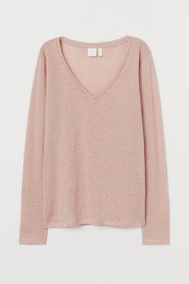 H&M Linen Jersey Top - Orange