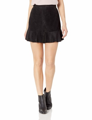 BB Dakota Junior's Run This Town Faux Suede Skirt