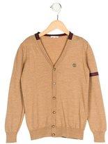 Gucci Boys' Wool Web-Trimmed Cardigan