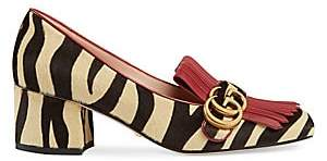 Gucci Women's Marmont Tiger-Print Calf Hair Pumps