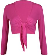 Hanger Hanger Women's Long Sleeve Bolero Crop Cardigan Tie Shrug 4-6