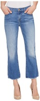 7 For All Mankind Cropped Boot w/ Grinded Hem in Adelaide Bright Blue Women's Jeans