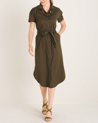 Chico's Poplin Utility Shirtdress