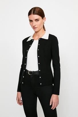 Karen Millen Milano Knit Collared Cardigan