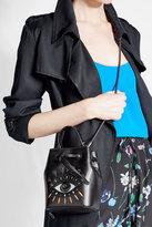 Kenzo Embroidered Leather Bucket Bag
