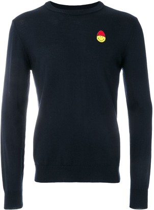 Ami Paris Crewneck Sweater Smiley Chest Embroidery
