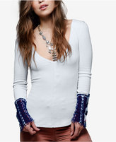 Free People Art School Embroidered Top