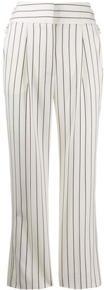 Roberto Cavalli High-Waisted Pinstriped Trousers