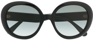 Gucci Web detail round-frame sunglasses