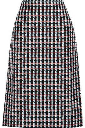 Marni Printed Cotton And Silk-blend Canvas Skirt