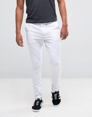 Asos Design DESIGN super skinny chinos in white