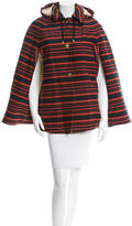 Tory Burch Striped Cape with Hood