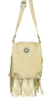 Scully Concho Leather Crossbody