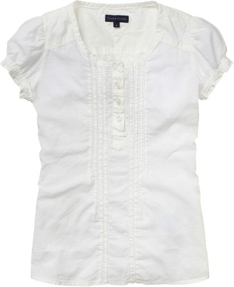 Tommy Hilfiger Girls Crew Neck 1/2 Sleeve Shirt White - Wei (118 SNOW WHITE) 14 Years