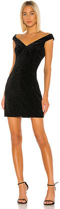 Theory Paneled Off The Shoulder Dot Dress