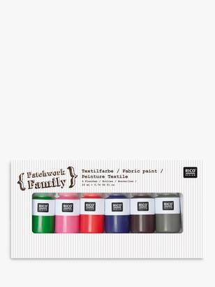 Rico Design Fabric Paint, Pack of 6, Multi