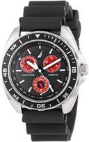 Nautica Men's N07577G Sport Ring Multifunction and Red Watch