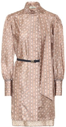 Fendi Printed silk minidress