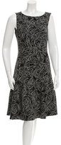 Oscar de la Renta Sleeveless A-Line Dress