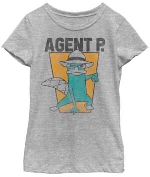 Fifth Sun Big Girls Agent P Short Sleeve T-shirt