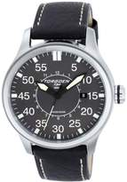 Torgoen Pilot T34 Series T34102 45mm Stainless Steel Case Black Leather Mineral Men's Watch