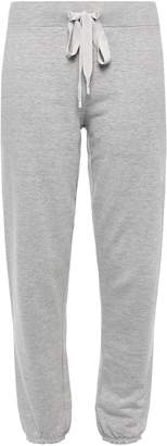 Theory Melange French Cotton-blend Terry Track Pants