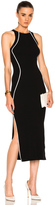 Thierry Mugler Contrasted Line Knit Dress