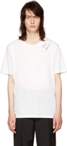 Saint Laurent White Logo Signature T-shirt