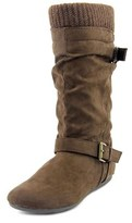 Report Everton Round Toe Synthetic Mid Calf Boot.