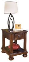 Ashley Porter Chairside End Table - Rustic Brown - Signature Design®