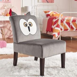 Zoomie Kids Maness Velvet Owl Slipper Kids Chair