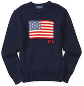 Ralph Lauren Boys 2-7 Intarsia-Knit Flag Sweater